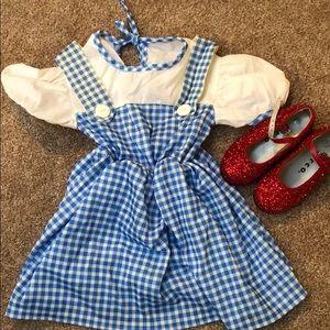 Toddler Dorothy Costume (Dress + shoes)